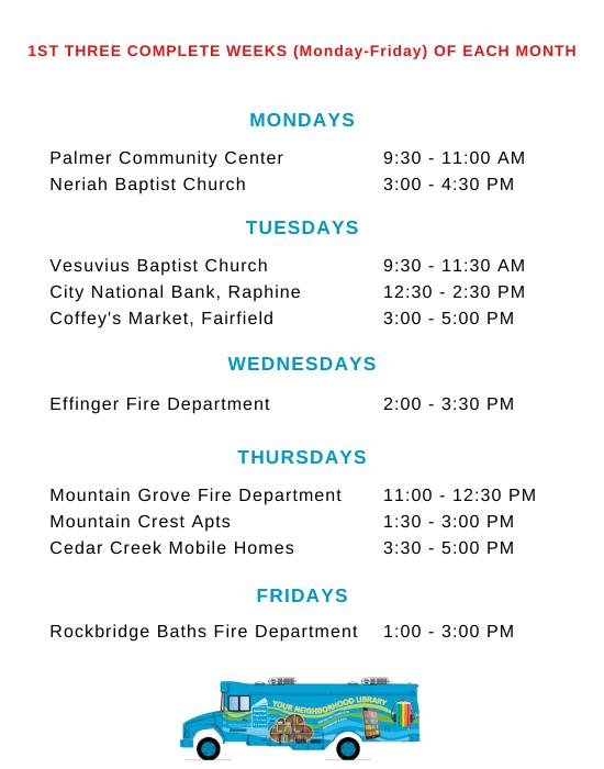 BMB Schedule