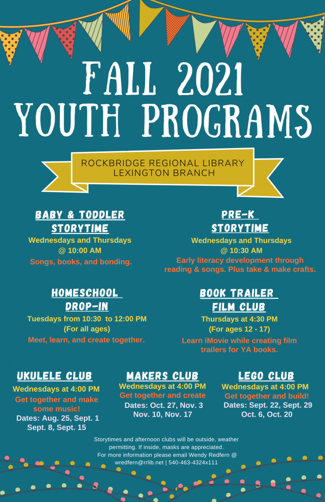 Fall 2021 Youth Programs